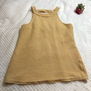 Anthropologie Deletta Halter Top Mustard